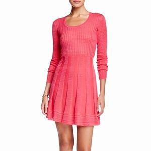 M Missoni Dark Pink Stretchy Wool Blend Knit Dress